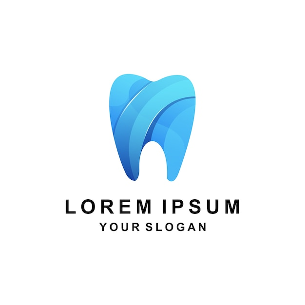 Logo Coloré Dentaire Vecteur Premium
