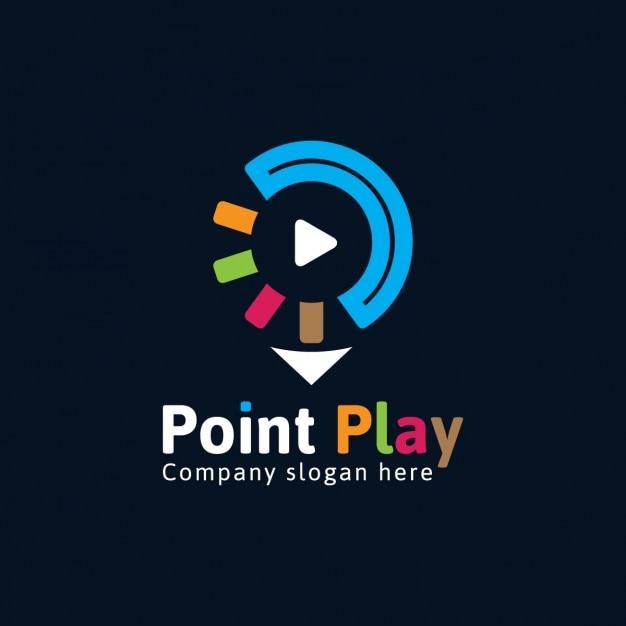 Logo coloré multimédia Vecteur gratuit