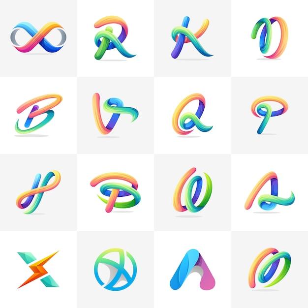 Logo coloré prêt à l'emploi Vecteur Premium