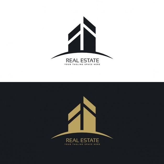 Logo concept de design moderne et propre immobilier for Concevoir mon propre immeuble
