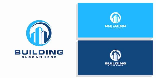 Logo De Conception De Bâtiment Vecteur Premium