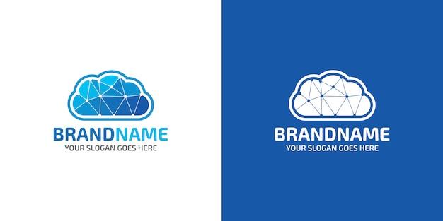 Logo De Connexion Au Cloud Vecteur Premium