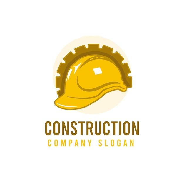 Logo De Construction De Pelle Vecteur gratuit