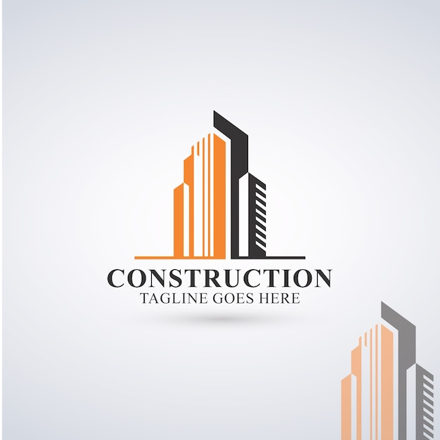Logo de construction Vecteur Premium