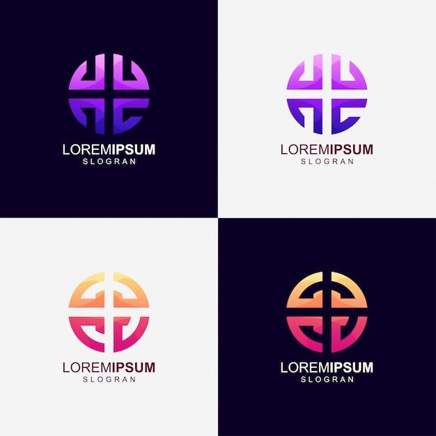 Logo Couleur Dégradé Rond Vecteur Premium