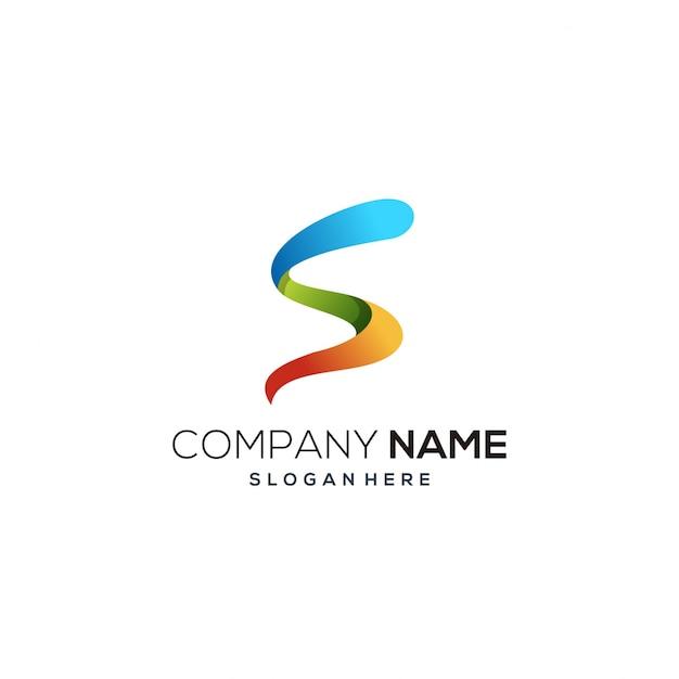 Logo De Couleur Latter S Vecteur Premium