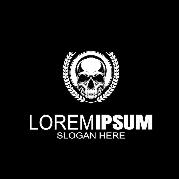 Logo De Crâne Logo Créatif Vecteur Premium