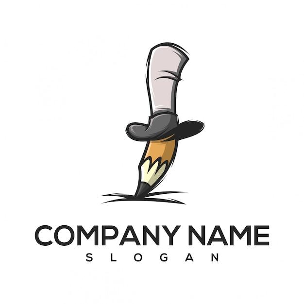 Logo crayon magique Vecteur Premium