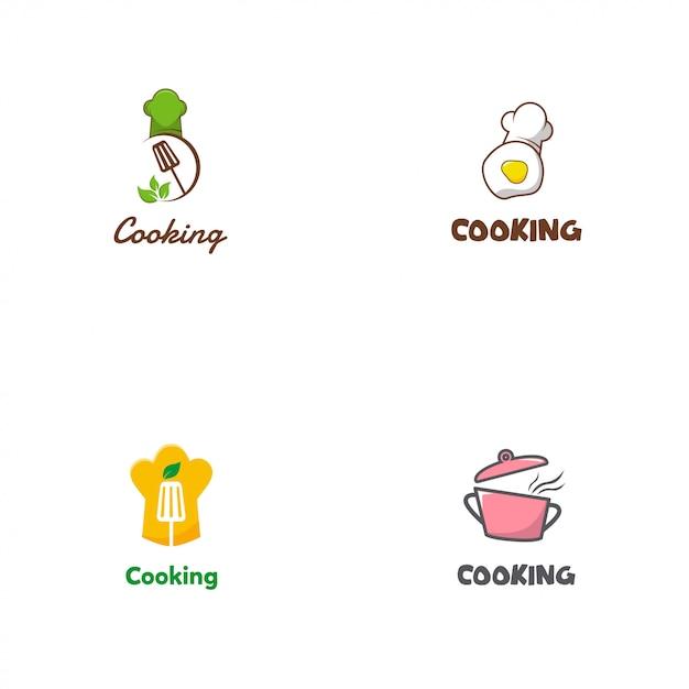 Logo de cuisine Vecteur Premium