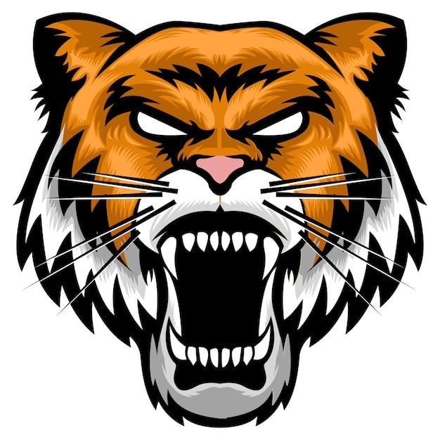 Souvent Logo de mascotte de tête de tigre en colère | Télécharger des  XD54