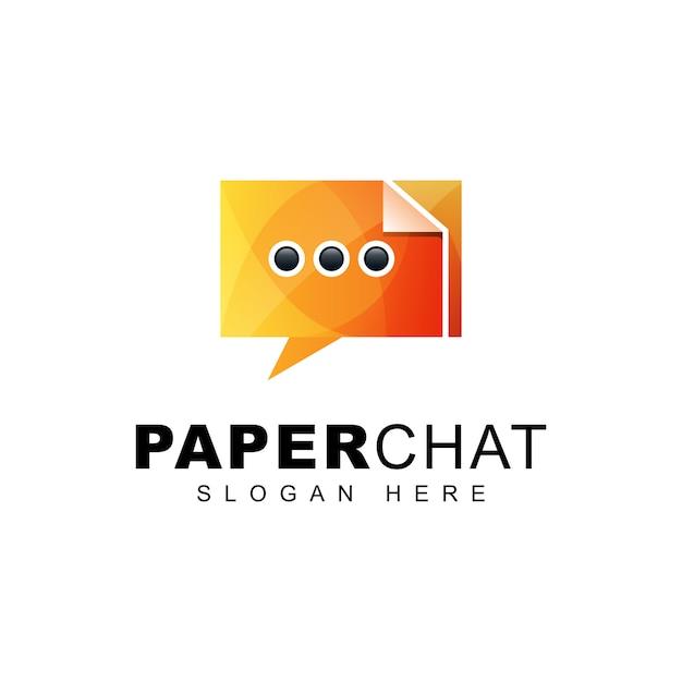 Logo Dégradé De Chat Papier Vecteur Premium