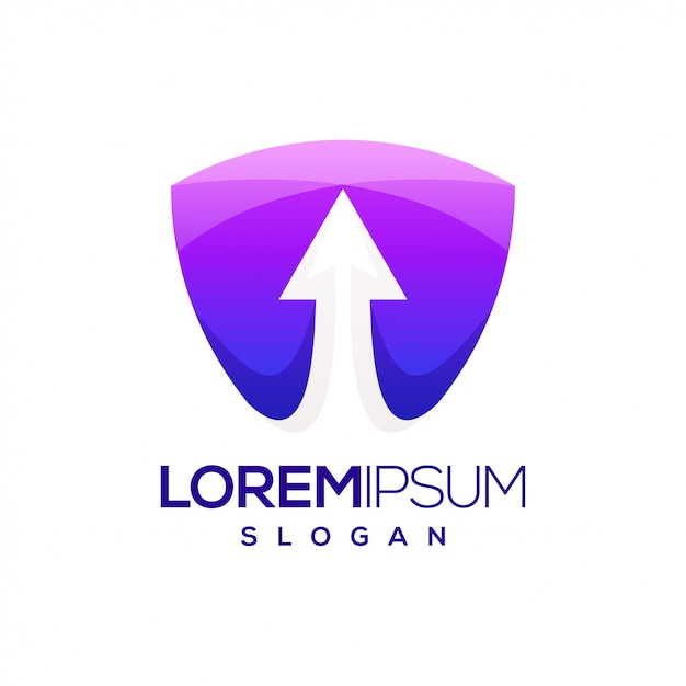Logo Dégradé Coloré De Flèche Vecteur Premium