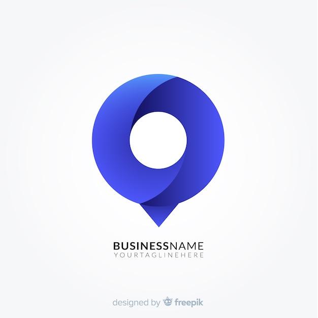 Logo Dégradé Avec Forme Abstraite Vecteur gratuit