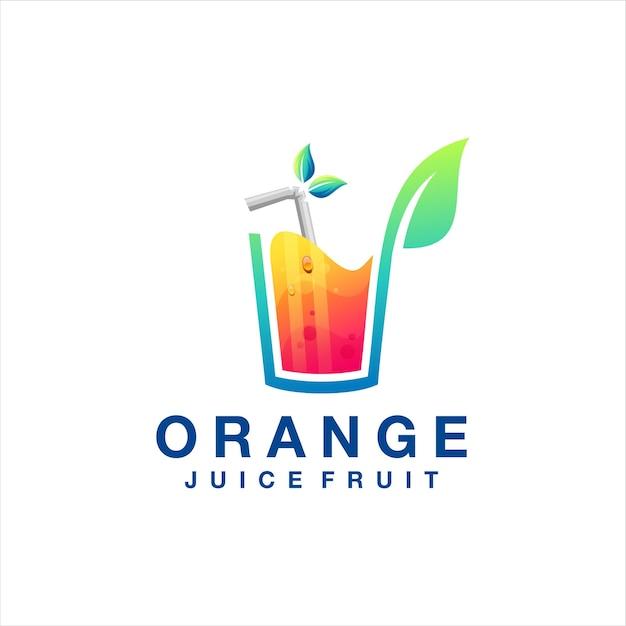 Logo Dégradé De Jus D'orange Vecteur Premium