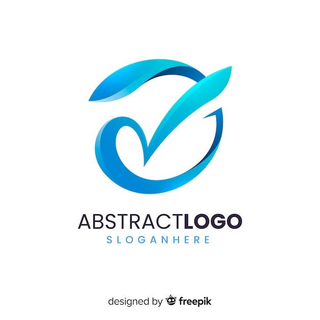 Logo dégradé Vecteur gratuit