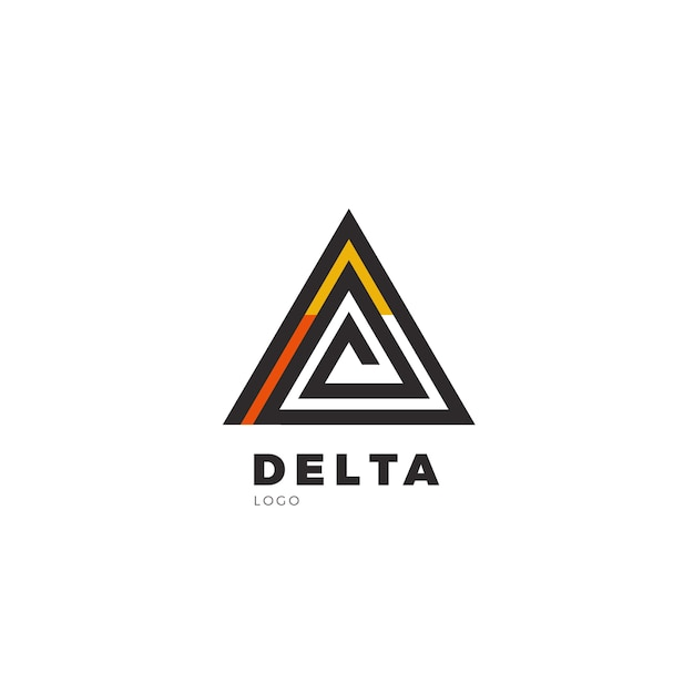 Logo Delta Vecteur Premium