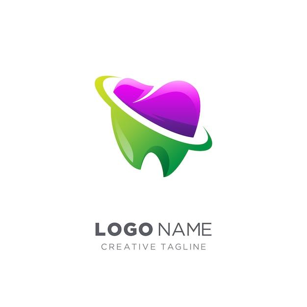 Logo Dentaire Créatif Abstrait Vecteur Premium