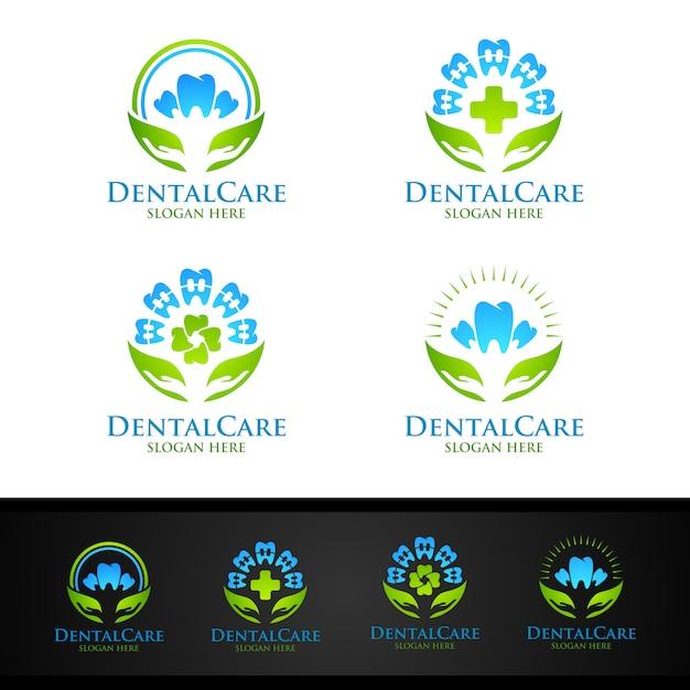Logo dentaire, dentist stomatology logo Vecteur Premium