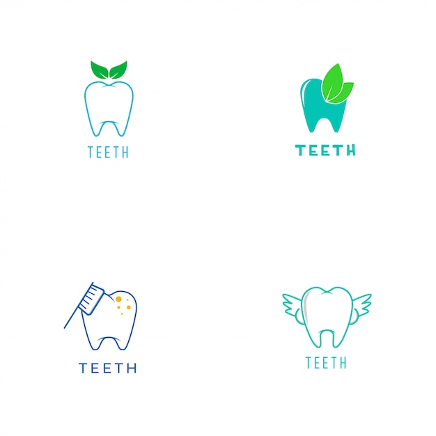 Logo de dents Vecteur Premium