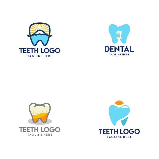 Logo de dents Vecteur Premium