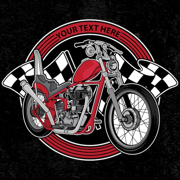 Logo Design Club Moto Vecteur Premium