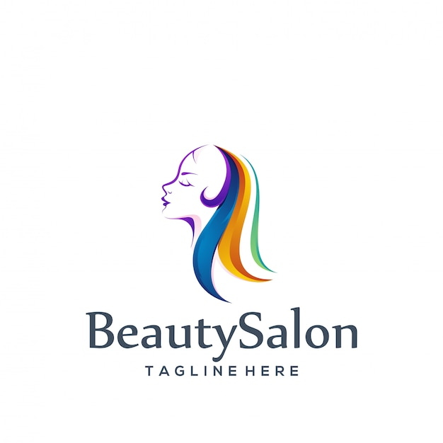 Logo Design Salon De Beauté Vecteur Premium