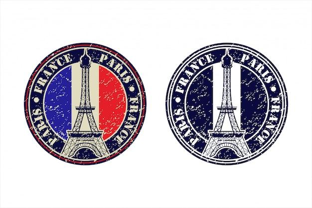 Logo Design Tour Eiffel Paris France Vecteur Premium