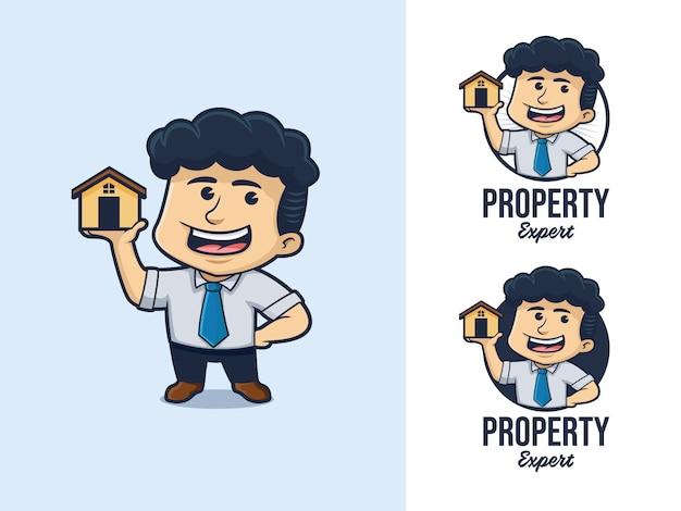 Logo De Dessin Animé D'architecte Vecteur Premium