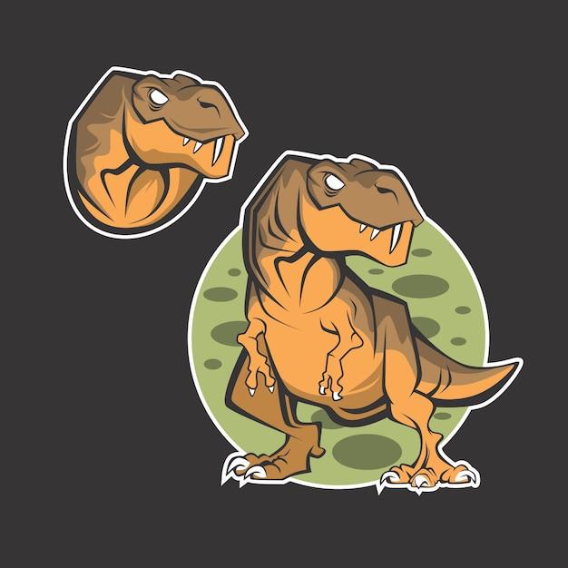 Logo de dinosaure Vecteur Premium