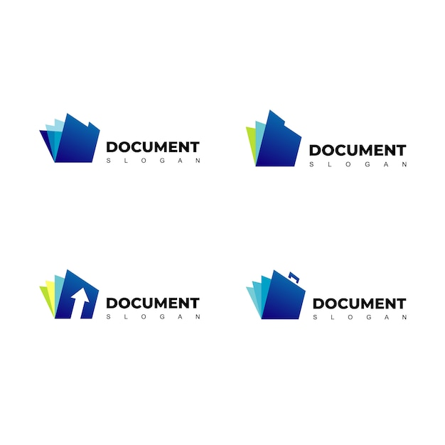 Logo de document vectoriel Vecteur Premium