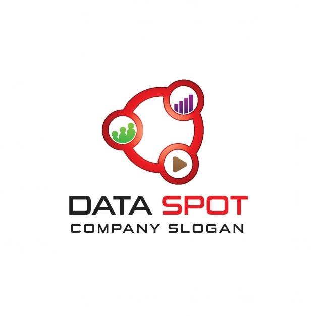 Logo de données Vecteur gratuit