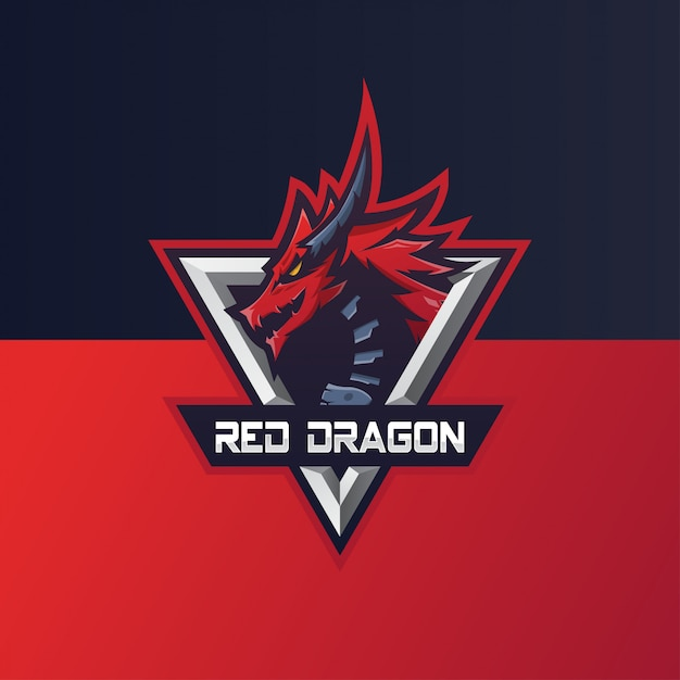 Logo Dragon E Sports Vecteur Premium