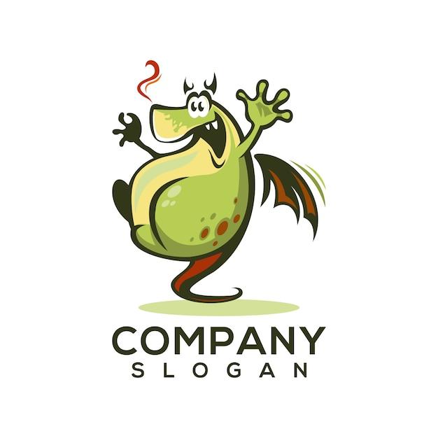 Logo dragon Vecteur Premium