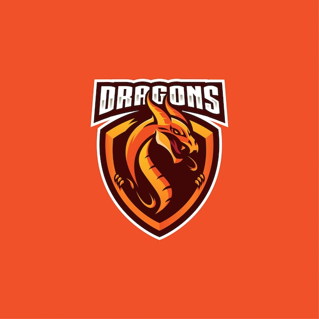 Logo dragon Vecteur Premium