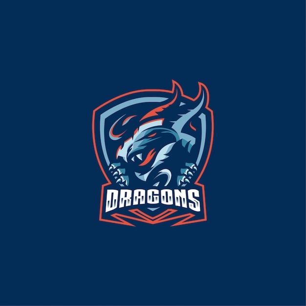 Logo dragons Vecteur Premium