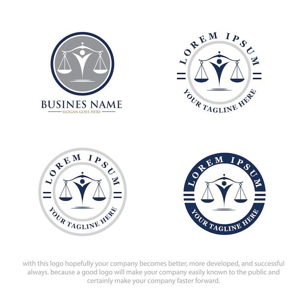 Logo de droit Vecteur Premium