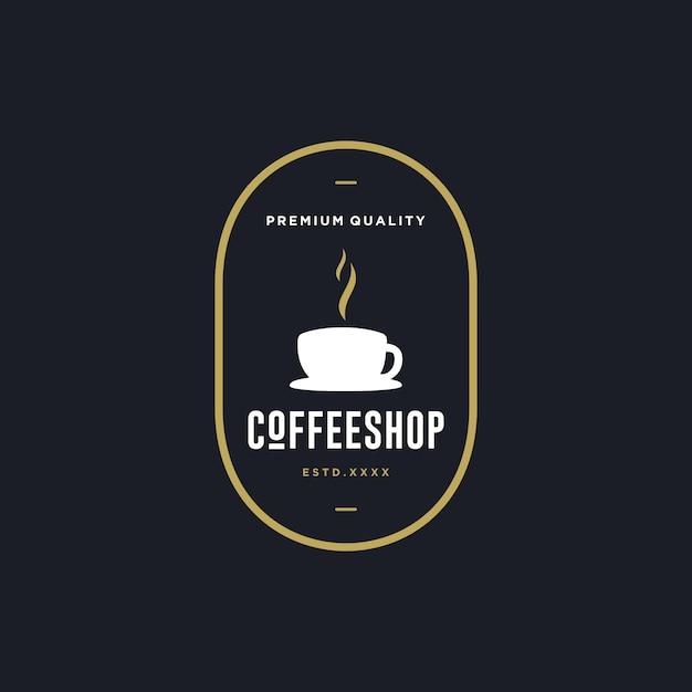 Logo du café Vecteur Premium