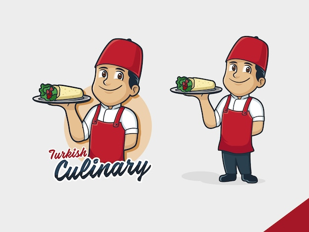 Logo Du Chef Kebab Vecteur Premium