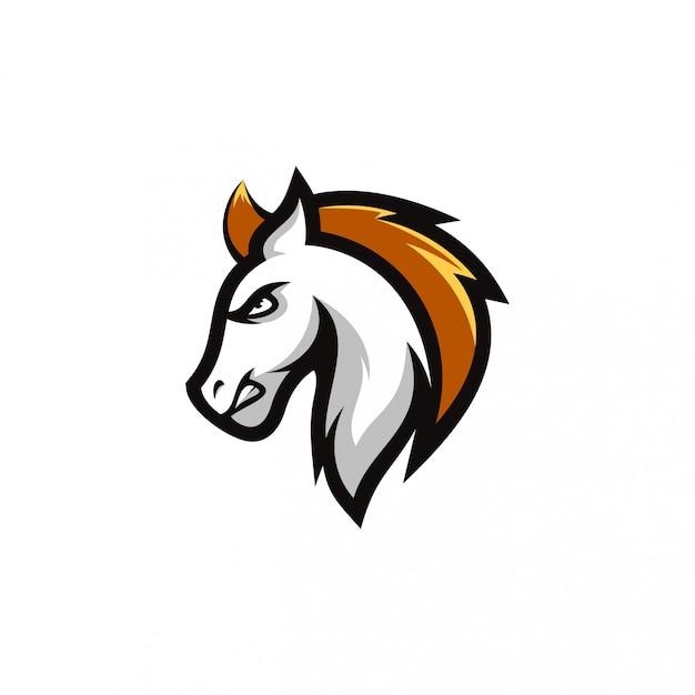 Logo du cheval Vecteur Premium