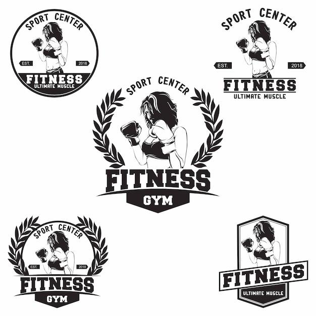 Logo du club de fitness Vecteur Premium