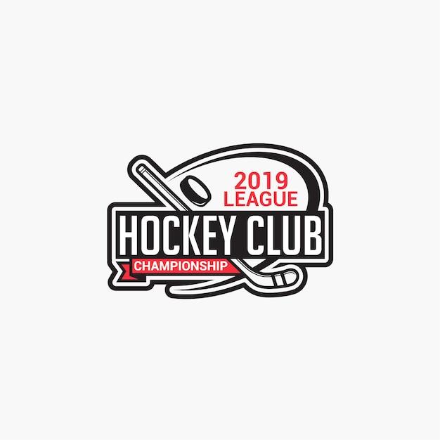Logo du club de hockey Vecteur Premium
