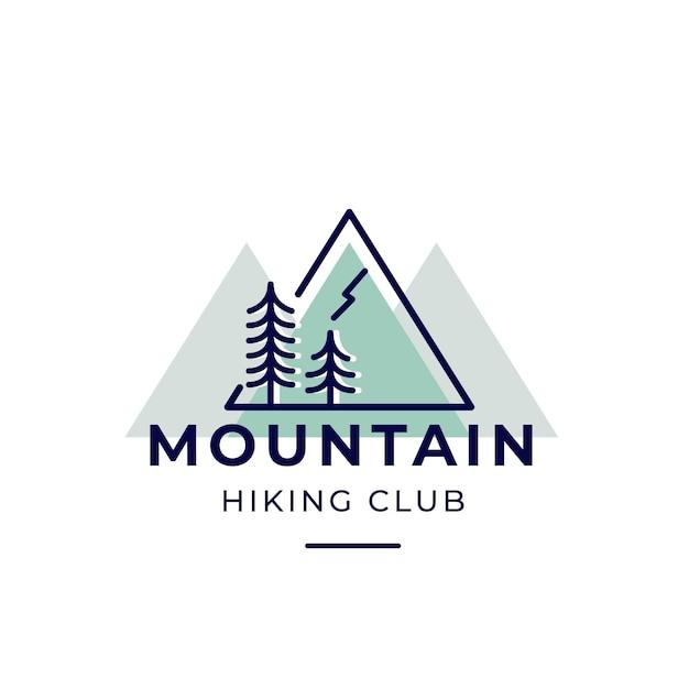 Logo Du Club De Randonnée En Montagne Vecteur gratuit