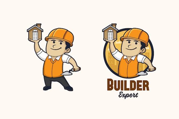 Logo Du Constructeur Vecteur Premium