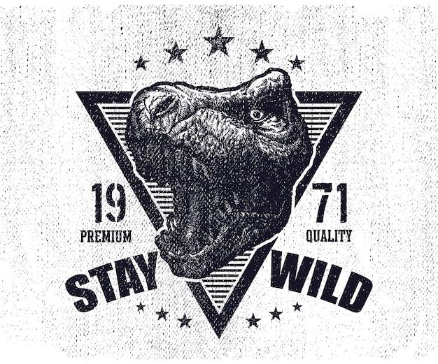 Logo Du Dinosaure Tyrannosaurus Vecteur Premium