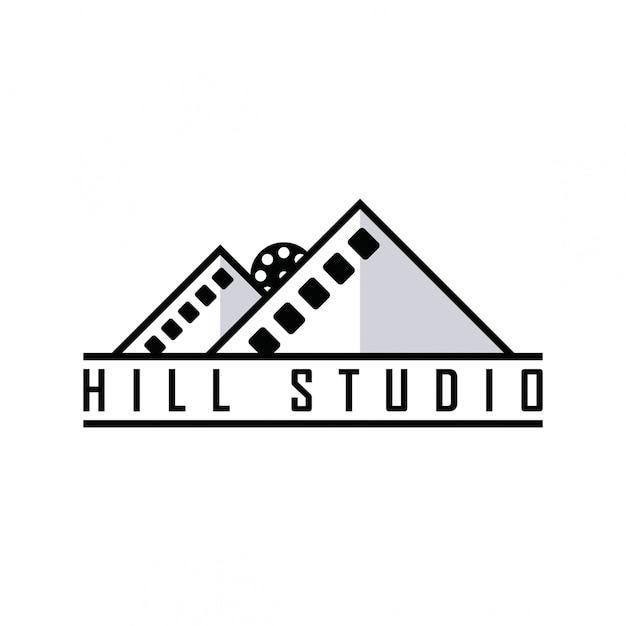 Logo Du Film Hill Vecteur Premium