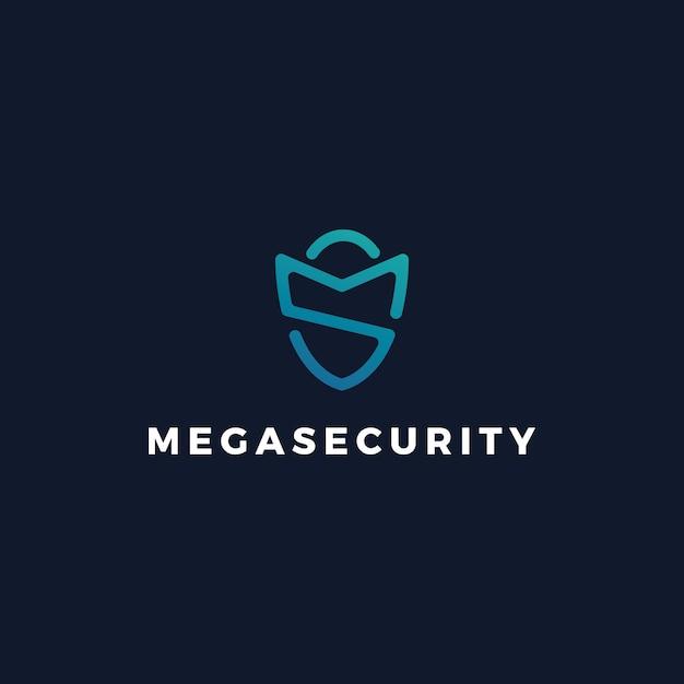 Logo Du Gardien De Sécurité Ms Vecteur Premium