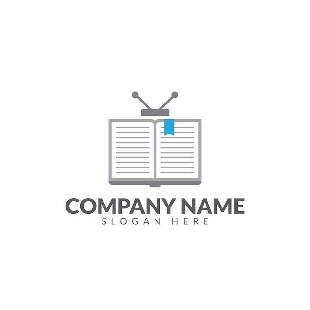 Logo du livre de télévision Vecteur Premium