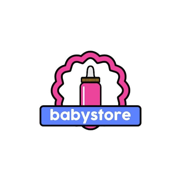Logo du magasin de bébé Vecteur Premium