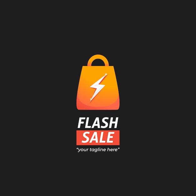 Logo Du Marché De La Vente Instantanée Flash Vecteur Premium