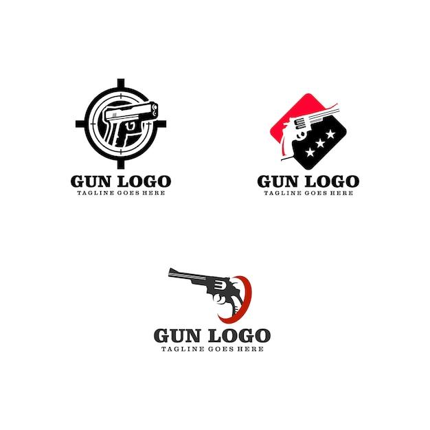 Logo du pistolet Vecteur Premium